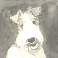 Sepia Modern Dog VI Fine-Art Print