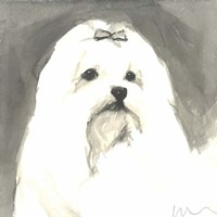 Sepia Modern Dog VIII Fine-Art Print