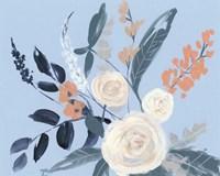 Eucalyptus Bouquet on Blue I Fine-Art Print