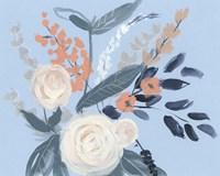 Eucalyptus Bouquet on Blue II Fine-Art Print