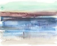 Burgundy Horizon II Fine-Art Print