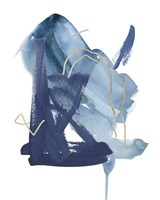 Indigo Collide II Fine-Art Print