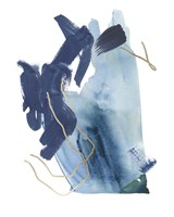 Indigo Collide III Fine-Art Print
