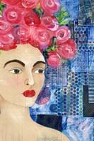 Flowers in her Hair I Fine-Art Print