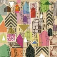 Stamped Houses I Fine-Art Print