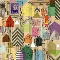 Stamped Houses II Fine-Art Print