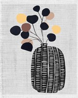 Decorated Vase with Plant III Fine-Art Print