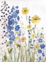 Periwinkle Wildflowers I Fine-Art Print