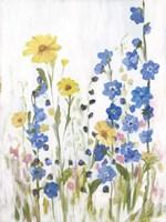 Periwinkle Wildflowers II Fine-Art Print