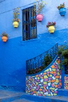 Morocco, Chefchaouen Colorful House Exterior Fine-Art Print