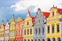 Europe, Czech Republic, Telc Colorful Houses On Main Square Fine-Art Print