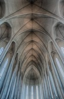 Iceland, Reykjavik, Ribbed Vaults In The Modern Cathedral Of Hallgrimskirkja Fine-Art Print