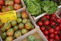 Italy, Genoa Province, Rapallo Fresh Produce In Outdoor Market Fine-Art Print