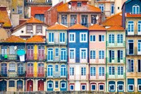 Europe, Portugal, Porto Colorful Building Facades Next To Douro River Fine-Art Print
