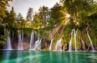 Europe, Croatia, Plitvice Lakes National Park Waterfall Landscape Fine-Art Print