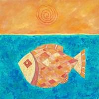 Fish With Spiral Sun Fine-Art Print