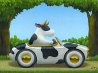 Cow Car Fine-Art Print