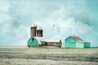 Aqua Barns Fine-Art Print