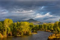 Dramatic Stormy Sunrise Light Strikes The Big Hole River Near Melrose, Montana Fine-Art Print