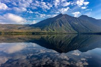 Stanton Mountain Over A Calm Lake Mcdonald In Glacier National Park, Montana Fine-Art Print
