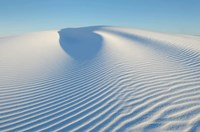 Ripple Patterns In Gypsum Sand Dunes, White Sands National Monument, New Mexico Fine-Art Print