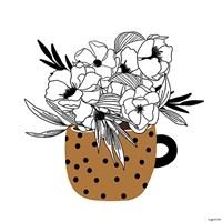 Mustard Flower Mug Fine-Art Print