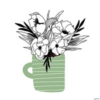 Green Flower Mug Fine-Art Print