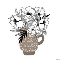 Gray Flower Mug Fine-Art Print