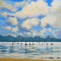 Boat Reflections Off Shore Fine-Art Print