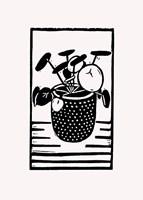 Black Disc Plant Fine-Art Print