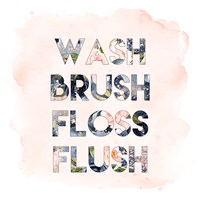 Wash, Brush, Floss, Flush Fine-Art Print