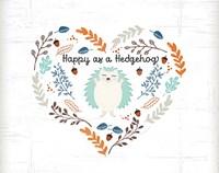 Happy as a Hedgehog Fine-Art Print