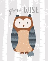 Grow Wise Owl Fine-Art Print