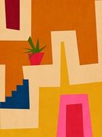 Modern Geometric House II Framed Print