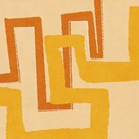 Modern Textile III Framed Print