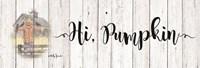 Hi, Pumpkin Fine-Art Print