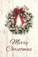 Titmouse Christmas Wreath Fine-Art Print
