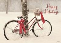 Happy Holidays Snowy Bike Fine-Art Print