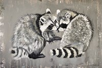 Two Raccoons Fine-Art Print
