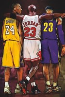Kobe, Jordan, LeBron Fine-Art Print