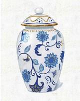 Flora Chinoiserie I Textured Framed Print