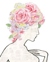 She Dreams of Roses I Framed Print