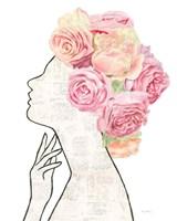She Dreams of Roses II Framed Print