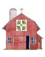 Life on the Farm Barn Element I Dark Red Fine-Art Print