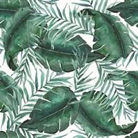 Monstea Leaves Pattern Fine-Art Print