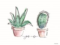 You and Me Cactus Fine-Art Print
