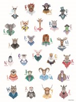 Animal Alphabet Poster Fine-Art Print