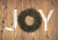 Joy Cedar Wreath Fine-Art Print