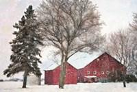Snowy Barn Fine-Art Print
