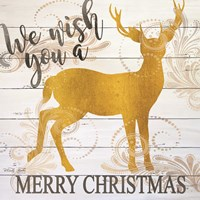 We Wish You a Merry Christmas Deer Fine-Art Print